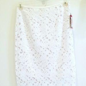 NWT Vince Camutp white eyelet skirt